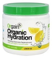 Orgain - Organic Hydration Refreshing Electrolyte Replenishment Lemon Ice - 7.05 oz.