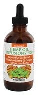 CBD Infusions - Cannibidiol Rich Hemp Oil With Supercritical CO2 Turmeric Oil 500 mg. - 4 oz.