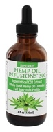 CBD Infusions - Cannibidiol Rich Hemp Oil With Supercritical CO2 Rosemary Oil 500 mg. - 4 oz.