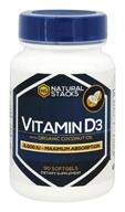 Natural Stacks - Vitamin D3 with Organic Coconut Oil 5000 IU - 90 Softgels