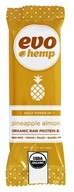 Evo Hemp - Organic Nutrition Raw Protein Bar Pineapple Almond - 1.69 oz.