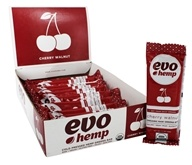Evo Hemp - Organic Nutrition Raw Greens Bar Cherry Walnut - 12 Bars