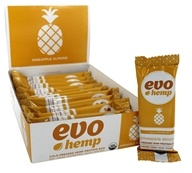 Evo Hemp - Organic Nutrition Raw Protein Bar Pineapple Almond - 12 Bars