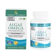 Nordic Naturals (挪威小鱼) -海藻Omega素食主义者Omega-3 650 mg。 - 60 Softgels