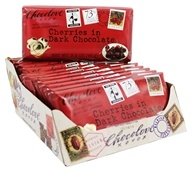 Chocolove - Organic Dark Chocolate Bar Cherries - 12 Bars