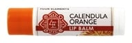 Four Elements Herbals - Lip Balm Calendula Orange - 0.15 oz.