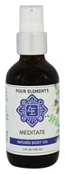 Four Elements Herbals - Infused Body Oil Meditate - 4 oz.