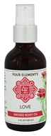 Four Elements Herbals - Infused Body Oil Love - 4 oz.