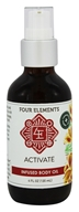 Four Elements Herbals - Infused Body Oil Activate - 4 oz.