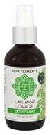 Four Elements Herbals - Deodorant Lime Mint Lovage - 4 oz.