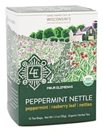 Four Elements Herbals - Organic Herbal Tea Peppermint Nettle - 16 Tea Bags
