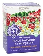 Four Elements Herbals - Organic Herbal Tea Peace, Harmony, Tranquility - 16 Tea Bags