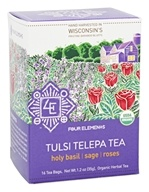 Four Elements Herbals - Organic Herbal Tea Tulsi TelepaTea - 16 Tea Bags