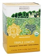 Four Elements Herbals - Organic Herbal Tea Triple Lemon - 16 Tea Bags