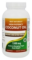 Best Naturals - Organic High Potency Extra Virgin Coconut Oil 1300 mg. - 180 Softgels