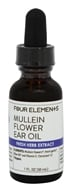 Four Elements Herbals - Fresh Herb Extract Tincture Mullein Flower Ear Oil Tincture Mullein FlowerOil - 1 oz.