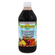 Dynamic Health - Turmeric and Ginger Tonic Cranberry - 16 oz.