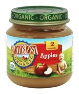Earth's Best - Organic Baby Food Stage 2 Apples - 4 oz.