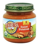 Earth's Best - Organic Baby Food Stage 2 Sweet Potatoes - 4 oz.