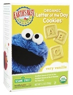 Earth's Best - Organic Letter of the Day Cookies Very Vanilla - 5.3 oz.