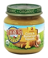 Earth's Best - Organic Baby Food Stage 2 Corn & Butternut Squash - 4 oz.