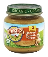 Earth's Best - Organic Baby Food Stage 2 Harvest Turkey Squash - 4 oz.