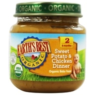 Earth's Best - Organic Baby Food Stage 2 Sweet Potato & Chicken Dinner - 4 oz.