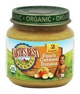 Earth's Best - Organic Baby Food Stage 2 Peach Oatmeal Banana - 4 oz.