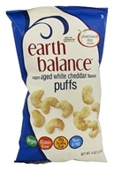 Earth Balance - Vegan Puffs Aged White Cheddar Flavor - 4 oz.
