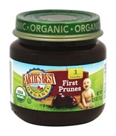 Earth's Best - Organic Baby Food Stage 1 First Prunes - 2.5 oz.