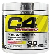 Cellucor - C4 Ripped Pre-Workout Explosive Energy and Cutting Formula Cherry Limeade 30 Servings - 180 Grams