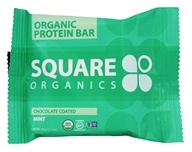 Square Organics - Organic Protein Bar Chocolate Coated Mint - 1.7 oz.