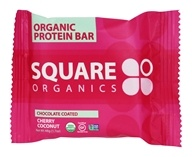 Square Organics - Organic Protein Bar Chocolate Coated Cherry Coconut - 1.7 oz.