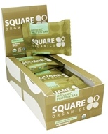 Square Organics - Organic Protein Bar Chocolate Coated Almond Spice - 12 Bars