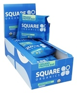 Square Organics - Organic Protein Bar Chocolate Coated Coconut - 12 Bars