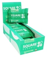 Square Organics - Organic Protein Bar Chocolate Coated Mint - 12 Bars