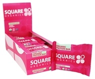 Square Organics - Organic Protein Bar Chocolate Coated Cherry Coconut - 12 Bars