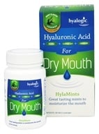 Hyalogic - Hyaluronic Acid for Dry Mouth Mint Flavor - 60 Lozenges