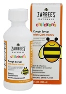 Zarbee's - Children's Cough Syrup with Dark Honey Natural Grape Flavor - 4 oz.