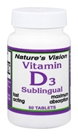Nature's Vision - Vitamin D3 Sublingual 3000 IU - 60 Tablets