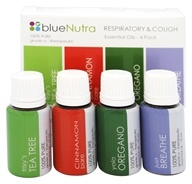 BlueNutra - 100% Pure Essential Oil Respiratory & Cough - 4 Pack