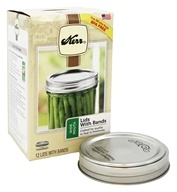 Kerr - Wide Mouth Mason Jar Lids with Bands - 12 Pack