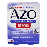 Azo - Urinary Pain Relief Maximum Strength - 24 Tablets