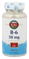 Kal - Vitamin B-6 50 mg. - 120 Tablets