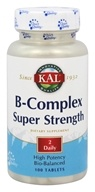 Kal - B Complex Super Strength - 100 Tablets