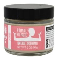 Primal Pit Paste - Natural Deodorant Jacked-Up Jasmine - 2 oz.