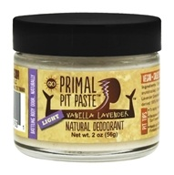 Primal Pit Paste - Natural Deodorant Light Vanilla Lavender - 2 oz.