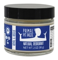 Primal Pit Paste - Natural Deodorant Royal & Rogue - 2 oz.