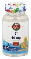 Kal - C ActivMelt Orange Juice 40 mg. - 120 Tablets