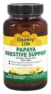 Country Life - Papaya Digestive Support Pineapple Papaya - 500 Chewable Wafers